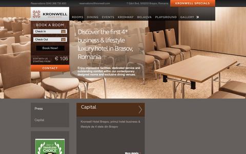 Screenshot of Press Page kronwell.com - Press | Kronwell - captured Nov. 15, 2018