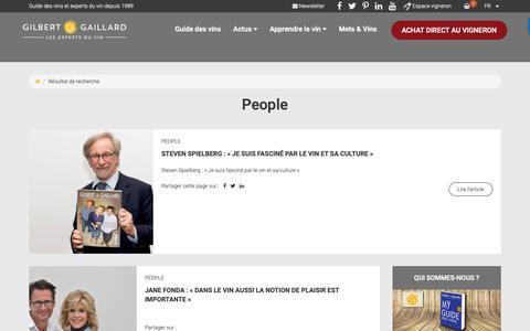Screenshot of Team Page gilbertgaillard.com - Vins et people - Le blog Gilbert & Gaillard - captured Sept. 28, 2018