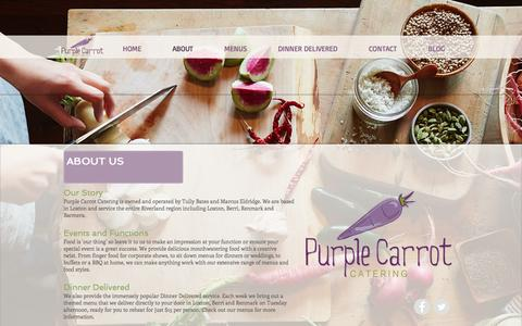 Screenshot of About Page purplecarrotcatering.com.au - About Us - Purple Carrot Catering - Riverland, South Australia - captured May 22, 2017