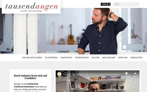Screenshot of Blog rowohlt.de - 1000 Augen - tausendaugen - captured Oct. 19, 2018
