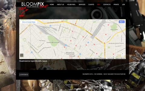 Screenshot of Maps & Directions Page bloompix.com - Map | Bloompix - captured Oct. 4, 2014