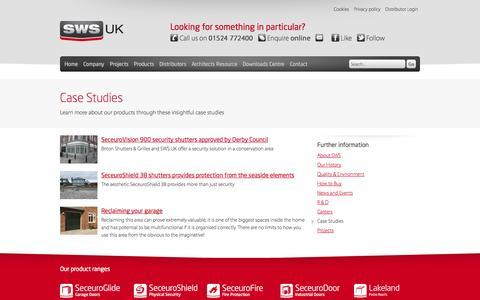 Screenshot of Case Studies Page sws.co.uk - Case Studies | SWS UK - captured Oct. 4, 2014