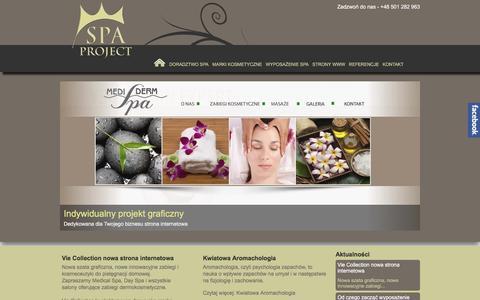 Screenshot of Press Page spa-project.pl - Aktualności - captured March 15, 2016