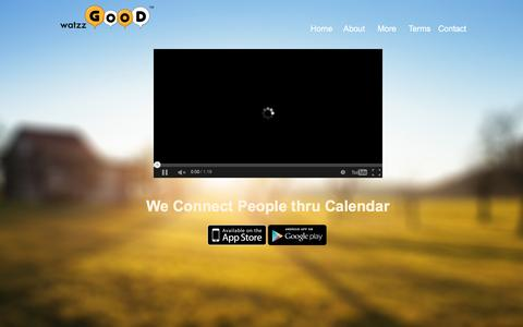 Screenshot of Home Page watzzgood.com - watzzGOOD - We Connect People thru Calendar - captured Feb. 13, 2016