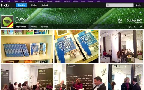 Screenshot of Flickr Page flickr.com - Flickr: bubok.es' Photostream - captured Oct. 23, 2014