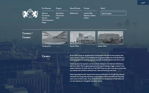 Screenshot of Jobs Page greassets.co.uk - Contact / Careers | GRE Assets - captured Oct. 2, 2014