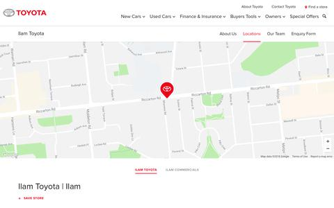 Screenshot of Locations Page toyota.co.nz - Ilam Toyota - Toyota NZ - captured July 18, 2018