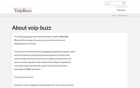 Screenshot of About Page voip-buzz.com - About voip-buzz - voip-buzz - captured Nov. 29, 2018