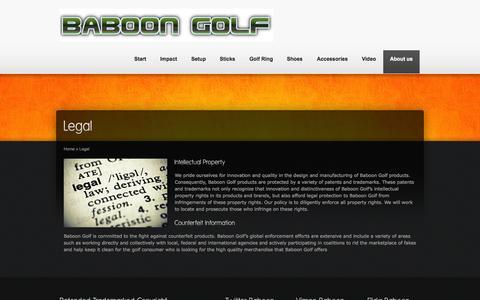 Screenshot of Terms Page baboongolf.com - Better Aim Better Game - captured Sept. 30, 2014