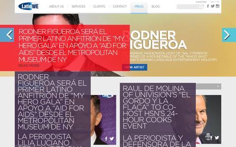 Screenshot of Press Page latinwe.com - Press   Latin WE - captured Oct. 30, 2014