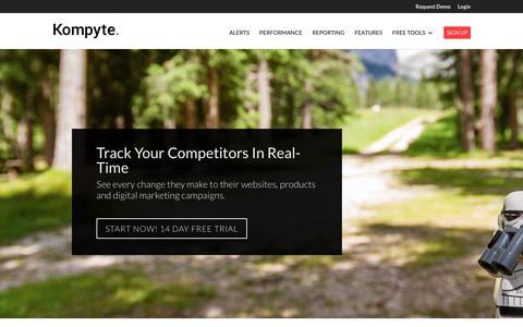 Kompyte - Track Competitors | Analyze Competition
