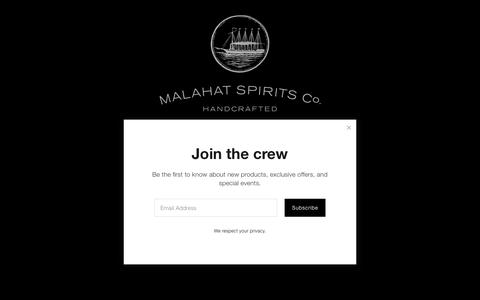 Screenshot of Home Page malahatspirits.com - Malahat Spirits Co. | San Diego Distillery - Rum & Whiskey - captured Oct. 2, 2018