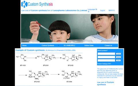 Screenshot of Home Page keepchem.com - Custom synthesis,(R)-BoroLeu-(+)-Pinanediol-CF3COOH - captured Oct. 6, 2014