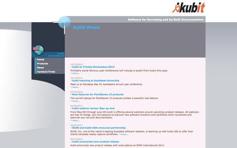 Screenshot of Press Page kubitusa.com - kubit, Software for Surveying and As-Built Documentation - captured Oct. 27, 2014