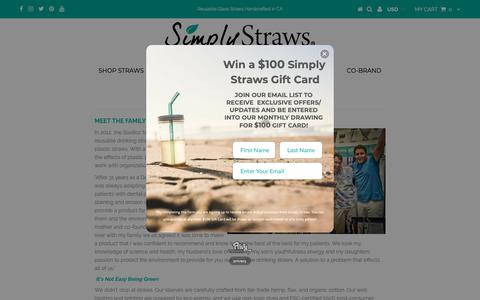Screenshot of About Page simplystraws.com - Our Story - captured Nov. 7, 2018