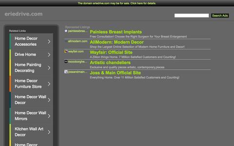 Screenshot of Menu Page eriedrive.com - Eriedrive.com - captured July 16, 2015