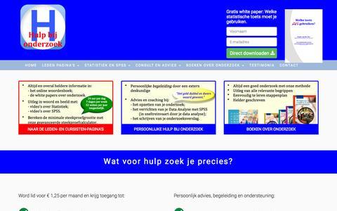 Screenshot of Home Page hulpbijonderzoek.nl - Hulp bij Onderzoek - captured June 16, 2015