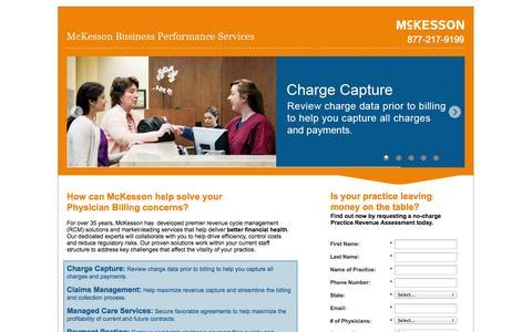 Screenshot of Landing Page mckesson.com captured Oct. 27, 2014