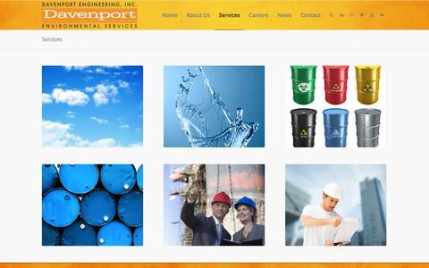 Screenshot of Services Page davenport-co.com - Services - Davenport Engineering, Inc. - captured Oct. 5, 2014