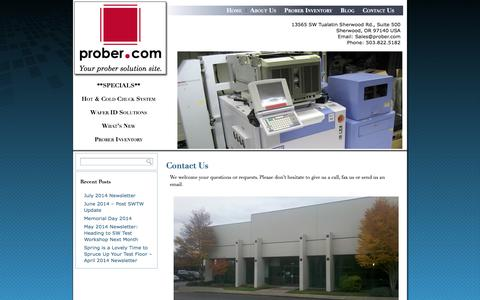 Screenshot of Contact Page prober.com - Contact Us | Prober.com - captured Oct. 3, 2014