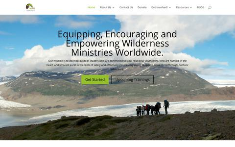 Screenshot of Home Page wildernessministry.org - The Wilderness Ministry Institute | A Rock in Hard Places - captured Nov. 9, 2018