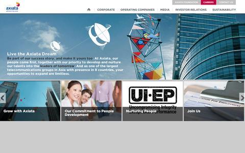 Screenshot of Jobs Page axiata.com - Axiata - captured Dec. 23, 2015