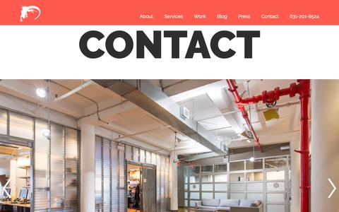 Screenshot of Contact Page loungelizard.com - Request a Quote | Web Design, Digital Marketing | (631) 201-8524 - captured March 3, 2019