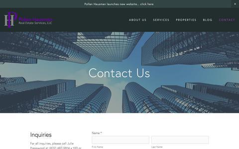 Screenshot of Contact Page pollanhausman.com - Contact — Pollan Hausman Real Estate - captured Aug. 11, 2017