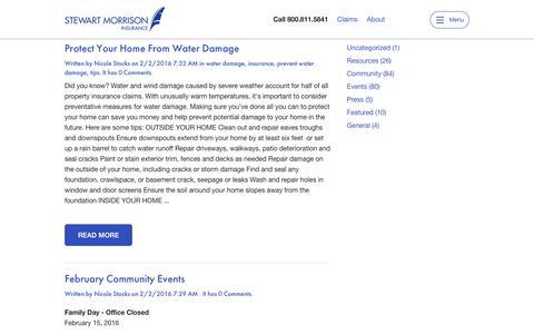 Screenshot of Blog stewartmorrison.ca - Stewart Morrison Insurance > Blog - captured Feb. 16, 2016