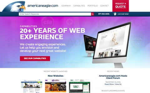 Screenshot of Home Page americaneagle.com - Web Design and Development | Americaneagle.com - captured Oct. 2, 2015