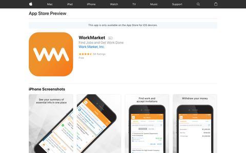 WorkMarket on the AppStore