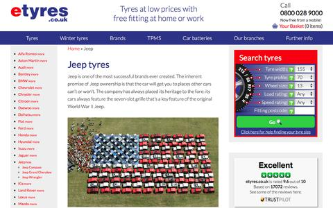 Cheap Jeep Tyres With Free Mobile Fitting - etyres