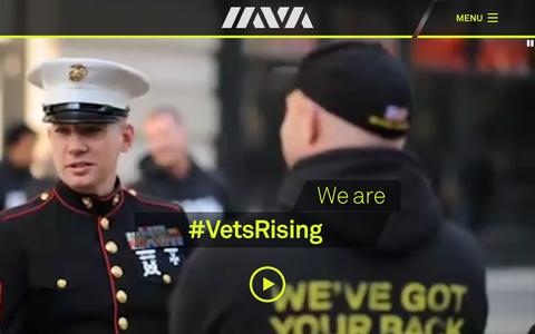 Screenshot of Home Page iava.org - Iraq and Afghanistan Veterans of America (IAVA) » We've got your back. - captured Aug. 5, 2015