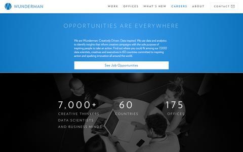 Screenshot of Jobs Page wunderman.com - Careers & Employment | Wunderman - captured Nov. 17, 2016