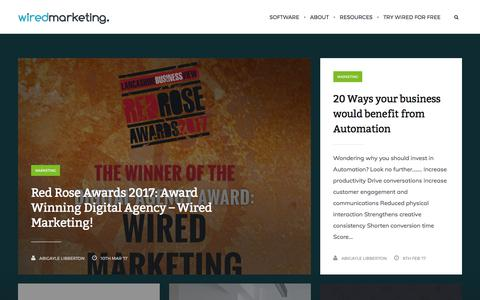 Screenshot of Blog wiredmarketing.co.uk - Email Marketing | Email Campaigns | Wired Marketing - captured June 14, 2017