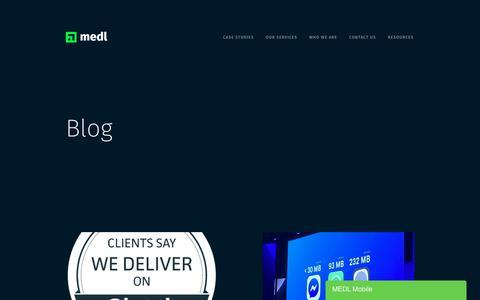 Screenshot of Blog medlmobile.com - Blog — MEDL Mobile - captured Sept. 13, 2019