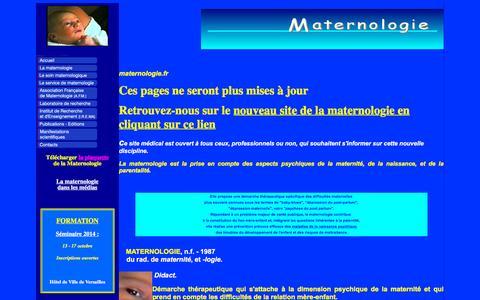 Screenshot of sfr.fr - La Maternologie - captured Oct. 16, 2015