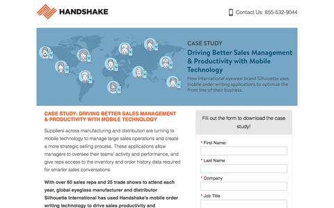 Screenshot of Landing Page handshake.com captured May 5, 2017