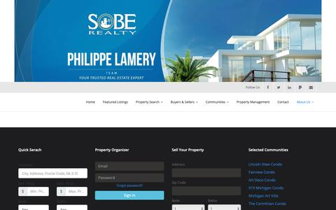 Screenshot of Testimonials Page soberealty.us - Testimonials – SoBe Realty Inc. – Professional Real Estate Services - captured Dec. 11, 2018
