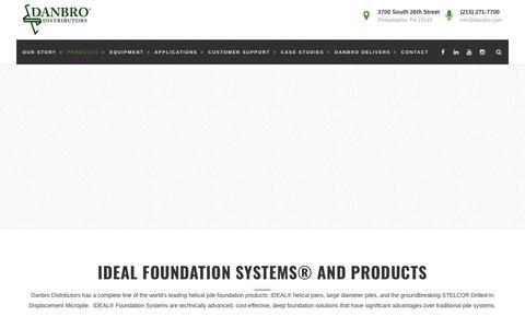 Screenshot of Products Page danbro.com - Products – Danbro Distributors - captured Oct. 7, 2018