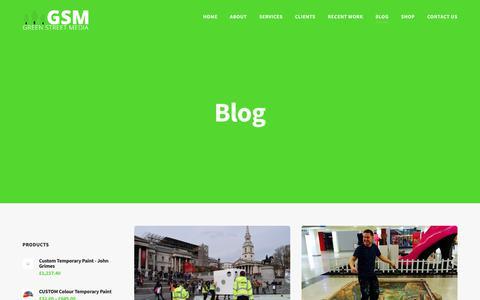 Screenshot of Blog greenstreetmedia.eu - Blog - Green Street Media - captured July 24, 2018