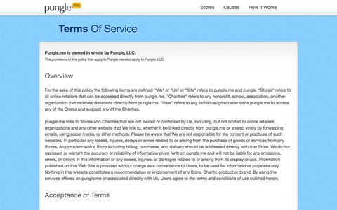 Screenshot of Terms Page pungle.me - pungle - terms of service - captured Oct. 3, 2014