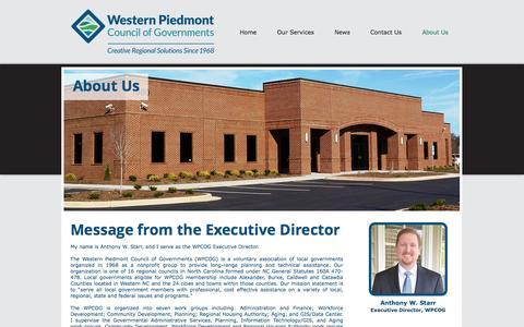 Screenshot of About Page wpcog.org - wpcog | About Us - captured Nov. 29, 2016