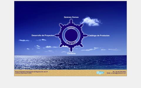 Screenshot of Home Page grupopinpro.com - Grupo Pinpro - Promotora Internacional de Negocios S.A. de C.V. - captured Oct. 7, 2014