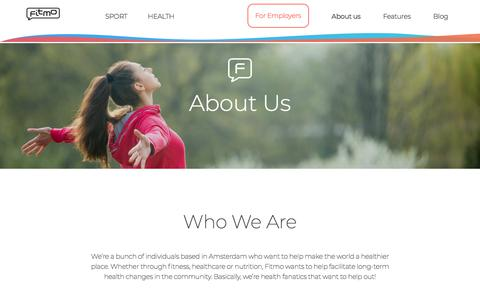 Screenshot of About Page fitmo.com - About us - Fitmo - captured May 22, 2018