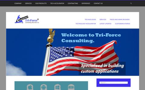 Screenshot of Blog triforce-inc.com - News updates from of Tri-Force Consulting Services Inc - captured Dec. 16, 2016
