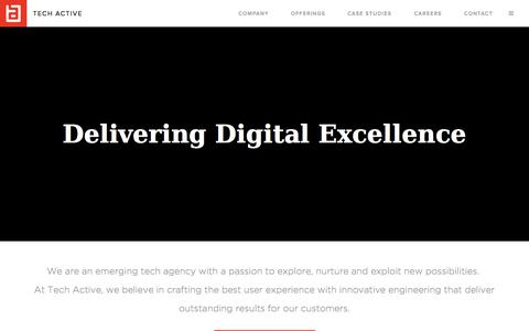 Screenshot of Home Page tech-active.com - Welcome to Tech Active - captured June 18, 2015