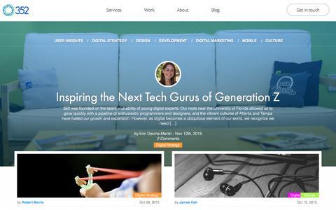 Screenshot of Blog 352inc.com - 352 Blog | 352 - captured Dec. 2, 2015
