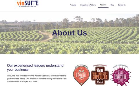 Screenshot of About Page vinsuite.com - About vinSUITE - captured Nov. 6, 2017