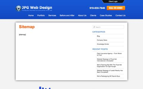 Screenshot of Site Map Page jpgwebdesign.com - Sitemap | - captured Sept. 30, 2014